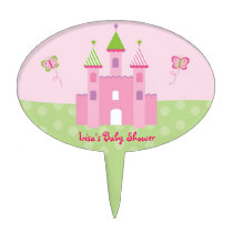 Princess Castle Fairy Tale Baby Shower Cake Topper
