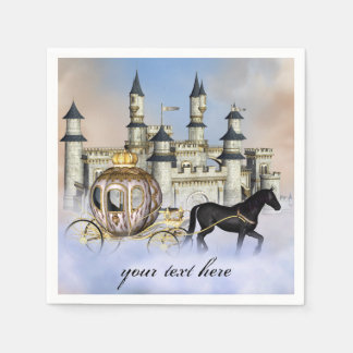 Princess Castle Fairy Tale Paper Napkin