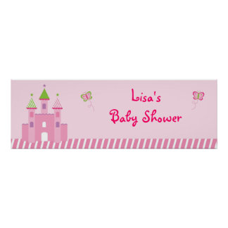 Princess Castle Fairy Tale Personalized Banner Poster