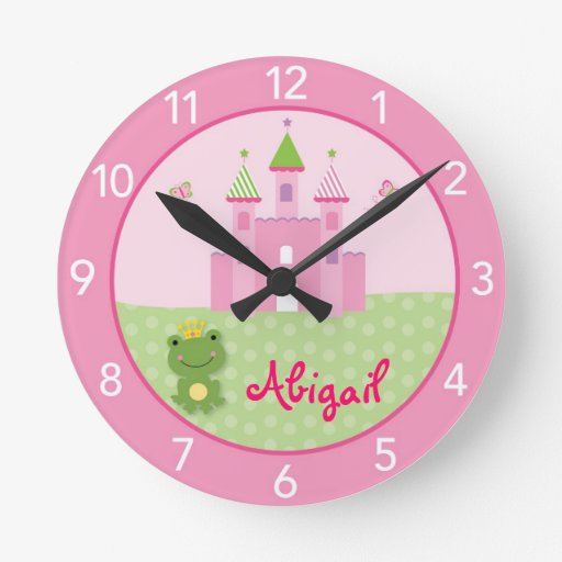 Princess Castle Frog Nursery Wall Clock