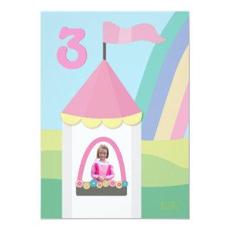 Princess Castle Girly Birthday Party Photo Invite