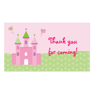 Princess Castle Goodie Bag Tags Gift Tags Business Card