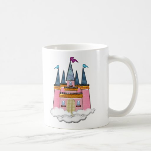 Princess Castle in the Clouds Classic White Coffee Mug
