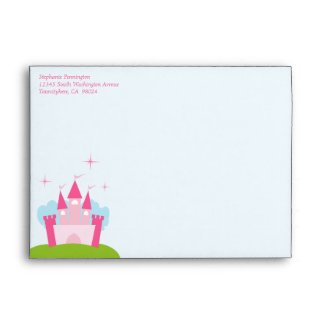 Princess castle invitation A7 envelope envelope