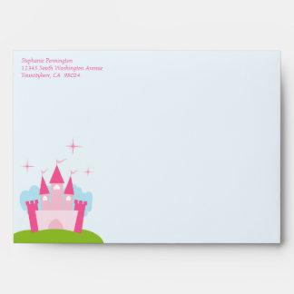 Princess castle invitation A7 envelope