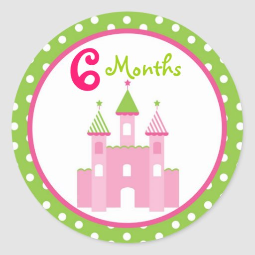 Princess Castle Monthly Milestone Stickers