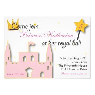 Princess Castle Personalized Announcements
