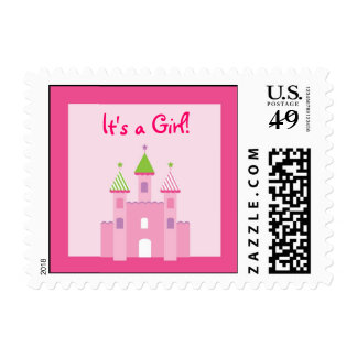 Princess Castle Personalized Postage Stamps