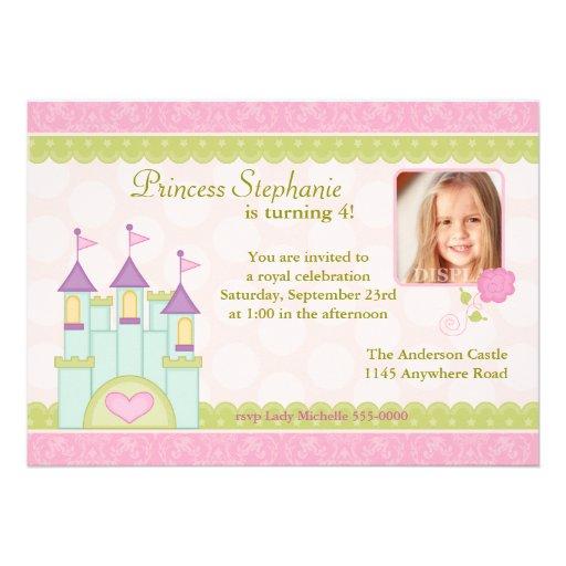 Princess Castle Photo Birthday Invitation