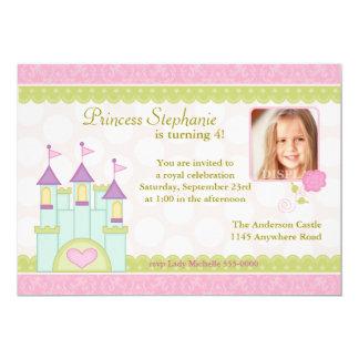 "Princess Castle Photo Birthday Invitation 5"" X 7"" Invitation Card"