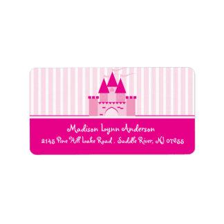 Princess Castle Return Address Labels.