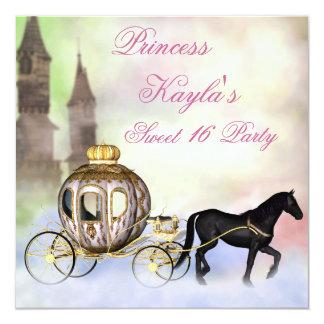 Princess Castle Royal Carriage Princess Sweet 16 Card