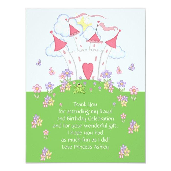 Princess Castle Thank You Flat Card