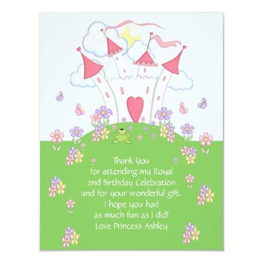 Princess Castle Thank You Flat Card Custom Invitations