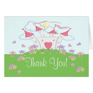 Princess Castle Thank You Fold Card