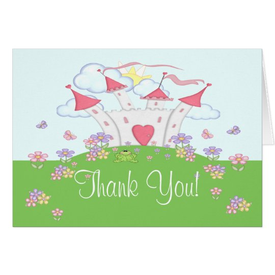 Princess Castle Thank You Fold Card