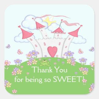 Princess Castle Thank You Square Sticker!