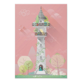 Princess castle tower poster