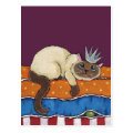 Princess Cat and the Pea Art Postcard