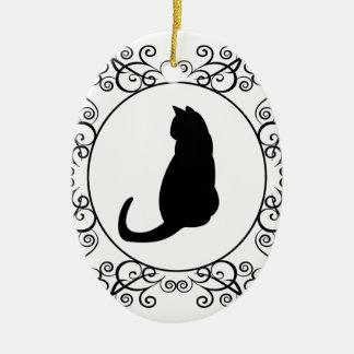Princess Cat Ceramic Ornament