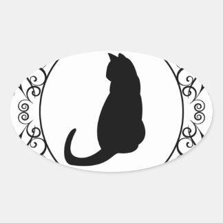 Princess Cat Oval Sticker