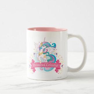 Princess Celestia Banner Two-Tone Coffee Mug
