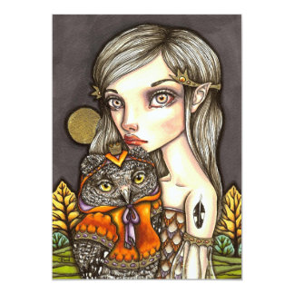 Princess Celine and Her Majesty the Owl Card