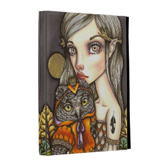 Princess Celine and Her Majesty the Owl iPad Folio Cases
