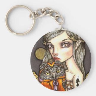 Princess Celine and Her Majesty the Owl Keychain