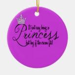 Princess Ceramic Ornament