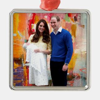Princess Charlotte Elizabeth Diana Metal Ornament