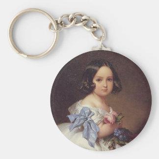Princess Charlotte of Belgium Basic Round Button Keychain