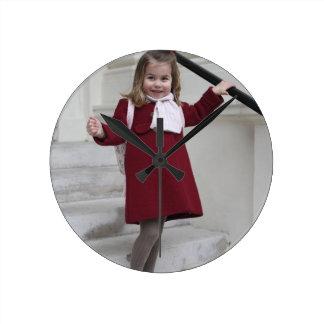 Princess Charlotte Round Clock