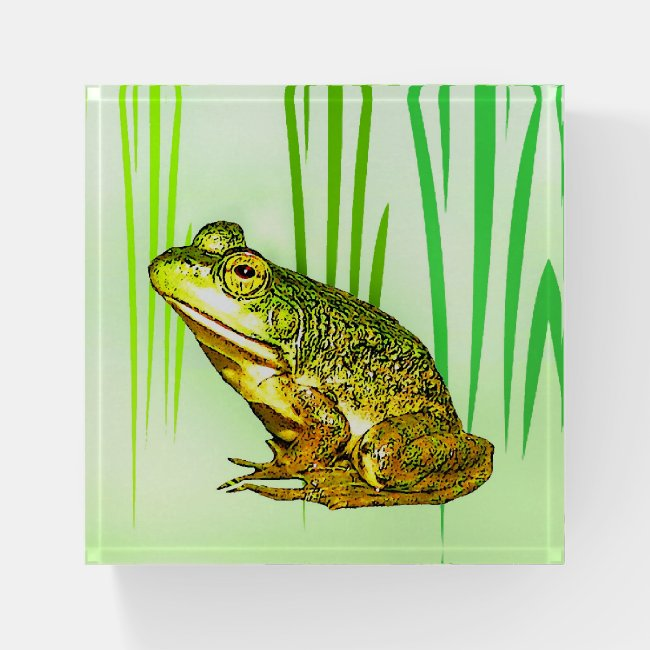 Princess Charming Frog Glass Paperweight