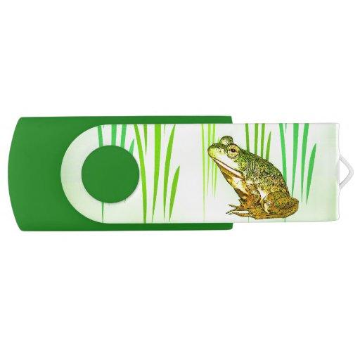 Princess Charming Frog Swivel USB 2.0 Flash Drive
