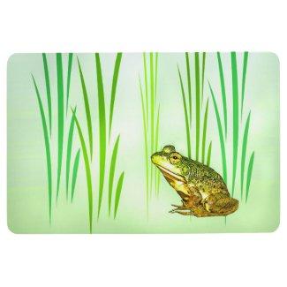 Princess Charming Green Frog Animal Floor Mat