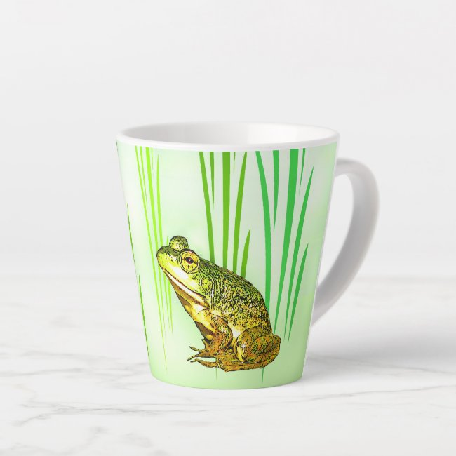 Princess Charming Green Frog Latte Mug