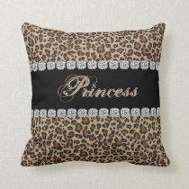 Princess Cheetah Bling Look Pillow Gift