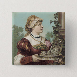 Princess Chocolate Trade Card Pinback Button