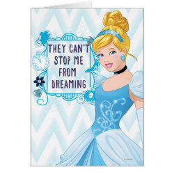 Greeting Card with They Can't Stop Me From Dreaming design