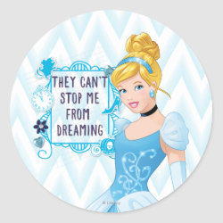 Round Sticker with They Can't Stop Me From Dreaming design