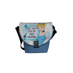 Rickshaw Mini Zero Messenger Bag with They Can't Stop Me From Dreaming design