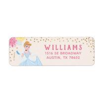 Princess Cinderella   Floral Gold Confetti Label