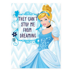 Postcard with They Can't Stop Me From Dreaming design