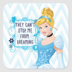 Square Sticker with They Can't Stop Me From Dreaming design