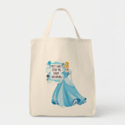 Grocery Tote with They Can't Stop Me From Dreaming design