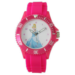 Women's Sporty Pink Silicon Watch with They Can't Stop Me From Dreaming design