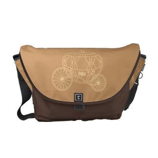 Princess Coach Design in Brown and Tan. Messenger Bags