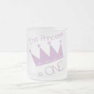 Princess Crown 1st Birthday Tshirts and Gifts 10 Oz Frosted Glass Coffee Mug