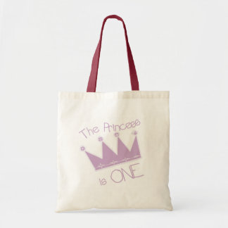 Princess Crown 1st Birthday Tshirts and Gifts Tote Bag